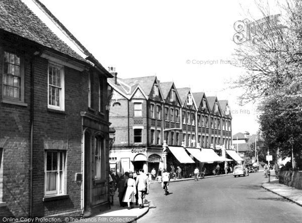 Photo of Weybridge, Church Street c1955, ref. w74037