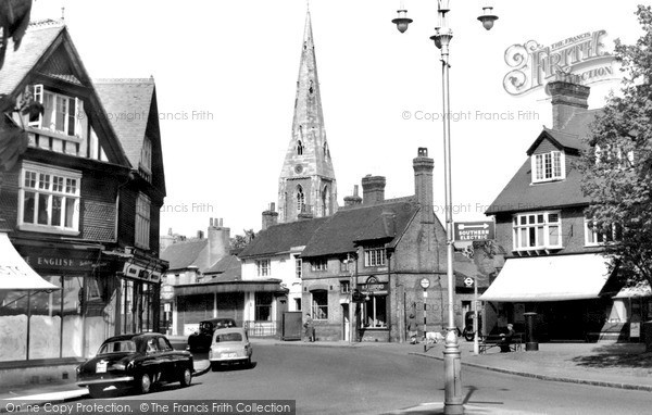 Photo of Weybridge, Church Street c1955, ref. w74038
