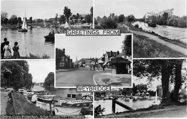 Photo of Weybridge, Composite c.1955