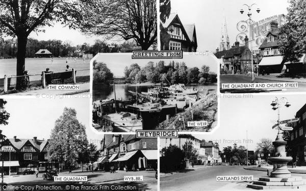 Photo of Weybridge, Composite c.1960