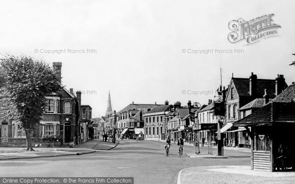 Photo of Weybridge, From Monument Green c.1955