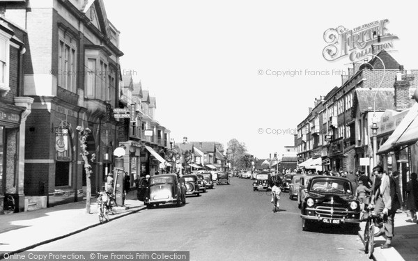 Photo of Weybridge, High Street 1954