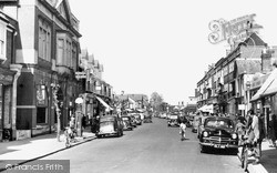 Weybridge, High Street 1954
