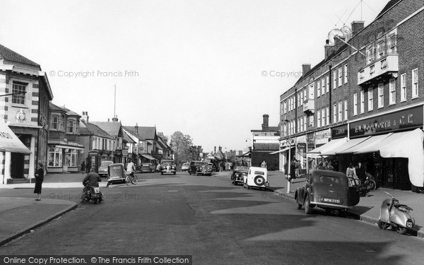 Photo of Weybridge, High Street c.1955