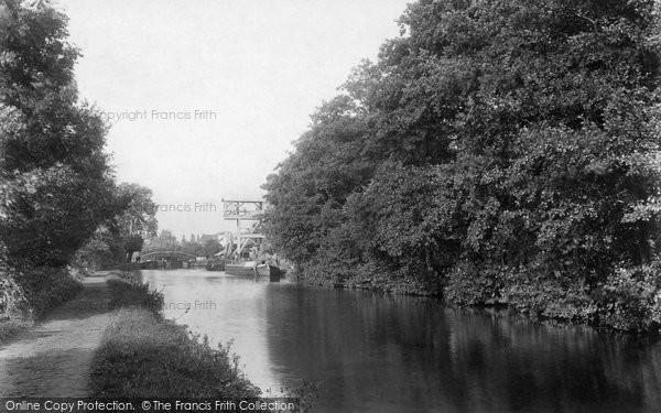 Photo of Weybridge, Mill and Bridge 1897, ref. 40014