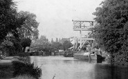 Weybridge, Mill and Bridge 1897