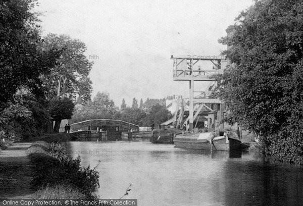 Photo of Weybridge, Mill and Bridge 1897, ref. 40014x