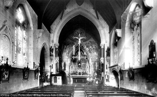 Photo of Weybridge, St Charles's Church Interior 1904