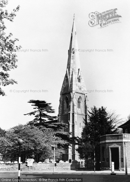 Weybridge Surrey, the Parish Church c1955.  (Neg. w74041)  © Copyright The Francis Frith Collection 2008. http://www.francisfrith.com