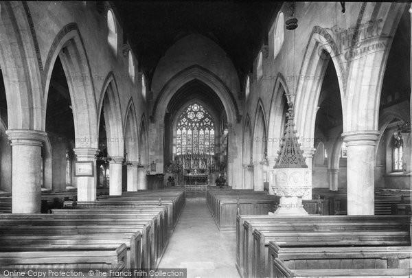 Photo of Weybridge, St James' Church Interior 1904