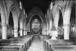 Weybridge, St James' Church Interior 1904