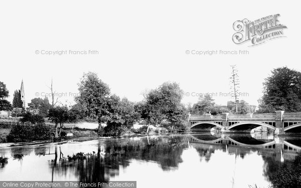 Photo of Weybridge, the Church and the River Wey 1890