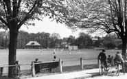 Weybridge, the Cricket Common c1955