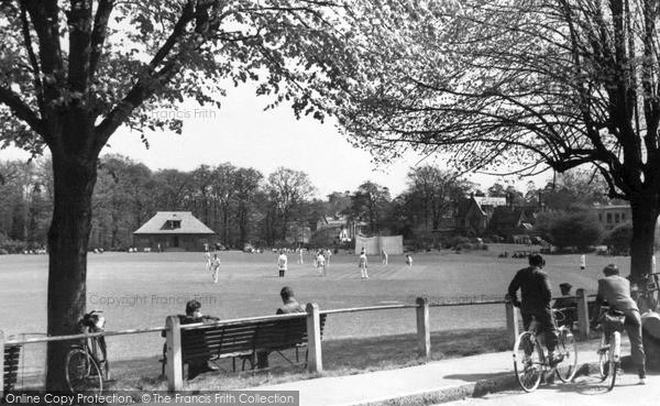 Photo of Weybridge, the Cricket Common c1955