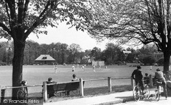 Weybridge, The Cricket Common c.1955