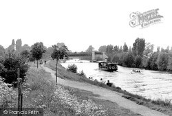 Weybridge, The Desborough Channel c.1955