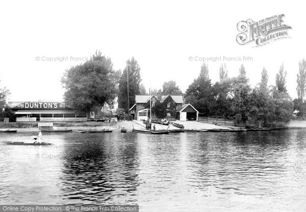 Weybridge, Ferry, Dunton's and River Thames River Wey, photo c1897.  (Neg.49907)  © Copyright The Francis Frith Collection 2008. http://www.francisfrith.com