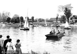 Weybridge, The Ferry, Shepperton Lock c.1955