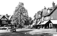 Weybridge, the Quadrant and Limes Parade c1955