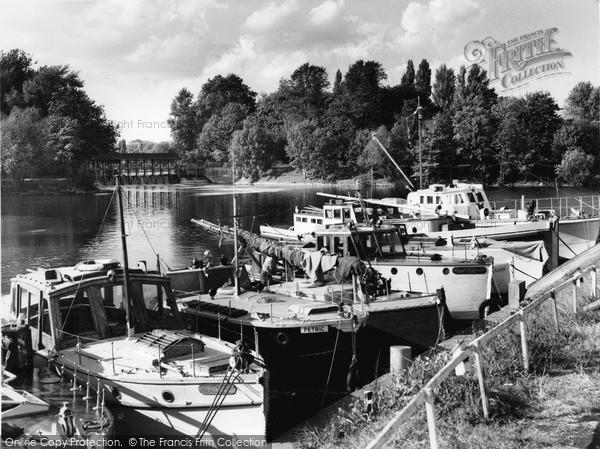 Photo of Weybridge, The River c.1965