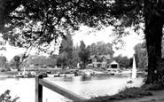 Weybridge, the River Thames c1955