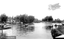 Weybridge, The River Wey 1900
