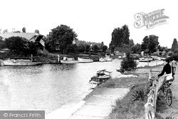 Weybridge, The Thames c.1955