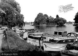 Weybridge, The Thames From North Bank c.1955