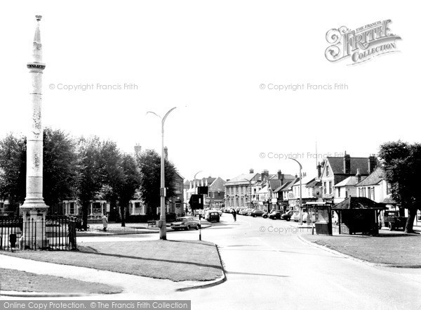 Weybridge, the view from Monument Green c1965.  (Neg. w74097)  � Copyright The Francis Frith Collection 2008. http://www.francisfrith.com