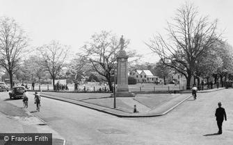 Weybridge, the War Memorial c1955