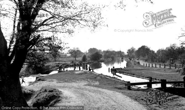 Photo of Weybridge, The Wey Navigation From The Bridge c.1955