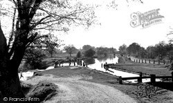 Weybridge, The Wey Navigation From The Bridge c.1955