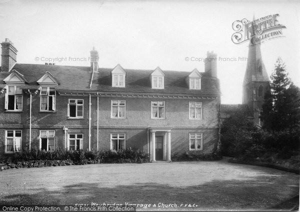 Photo of Weybridge, Vicarage And St James' Church 1904