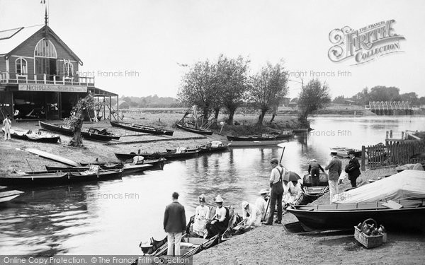 Photo of Weybridge, View From Lincoln Arms Hotel 1890