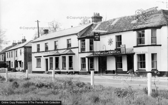 Photo of Weyhill, The Star Inn And Post Office Stores c.1950