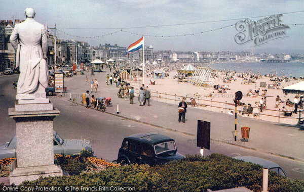 Photo of Weymouth, Beach And Promenade c.1965