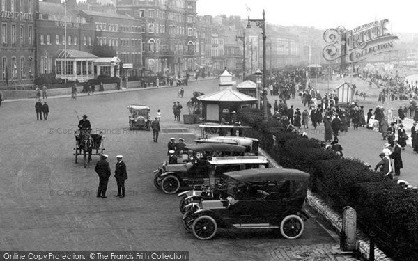 Photo of Weymouth, Cars On The Esplanade 1918