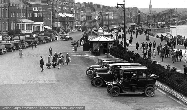 Photo of Weymouth, Cars On The Esplanade 1923