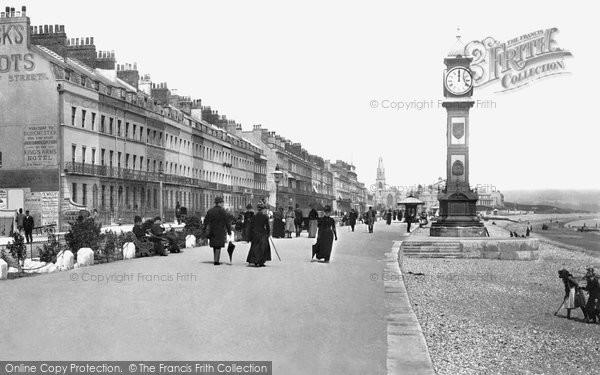 Photo of Weymouth, Esplanade And Jubilee Clock Tower 1890