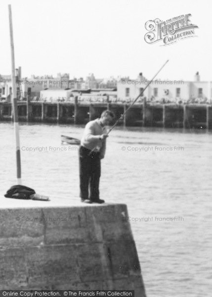 Photo of Weymouth, Fishing From The Harbour c.1955