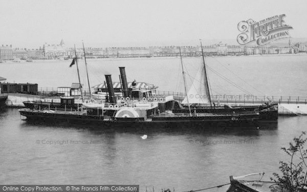 Photo of Weymouth, Harbour, A Steamship 1898