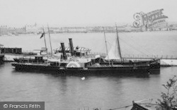 Weymouth, Harbour, A Steamship 1898