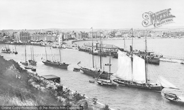Photo of Weymouth, Harbour And Esplanade From The Nothe c.1900