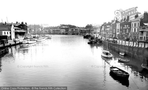 Photo of Weymouth, Harbour  c.1955