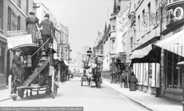 Photo of Weymouth, Horse Buses In St Mary Street c.1900