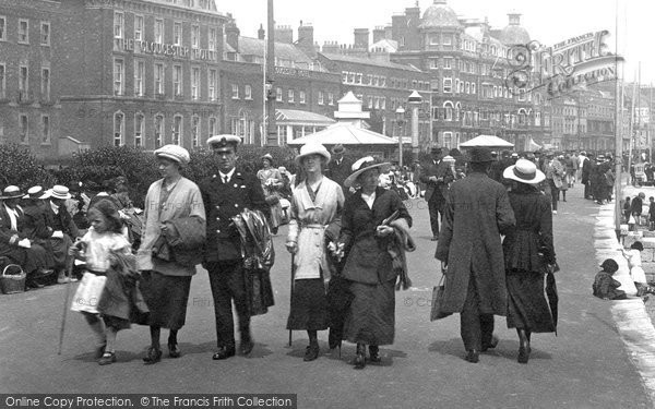 Photo of Weymouth, People On The Promenade 1918