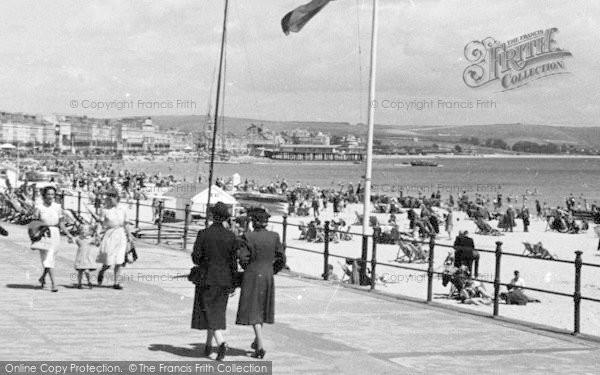 Photo of Weymouth, Promenade And Beach c.1955