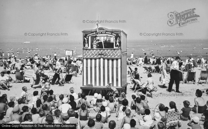 Weymouth, Punch And Judy Show On The Beach c.1955