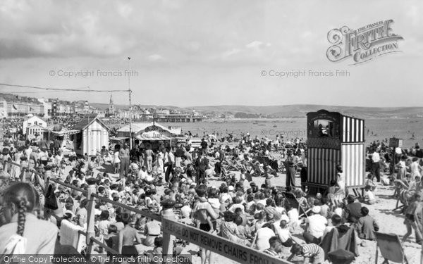 Photo of Weymouth, Punch And Judy, The Sands c.1955