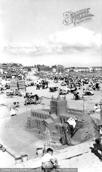 Photo of Weymouth, Sand Sculpture On The Beach c.1955
